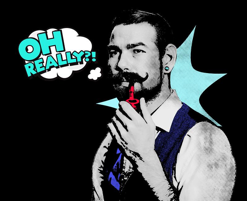 Barrel Marketing Moustache Man