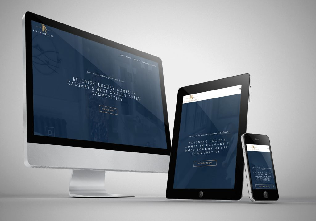 PURE Residential Website Development