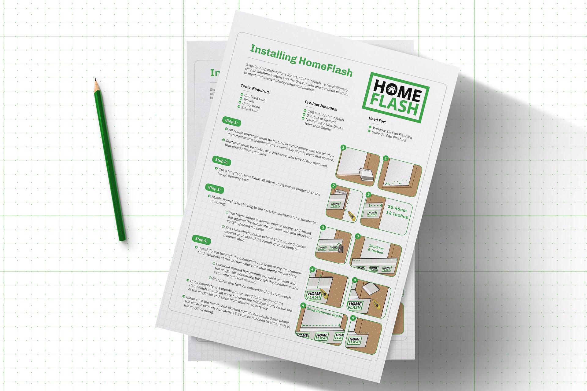 HomeFlash Installation Card Graphic Design