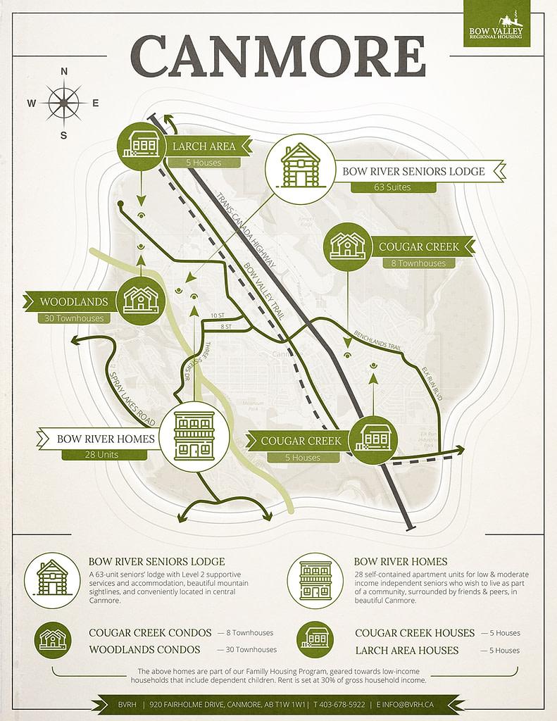 BVRH Service Map Graphic Design